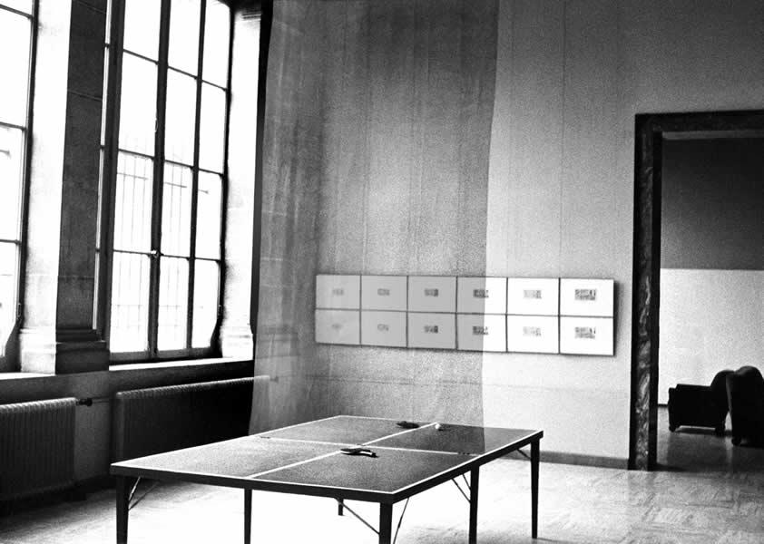 LAUSANNE (CH),  MUSEE DES BEAUX ARTS, 'IMPLOSION' 1973